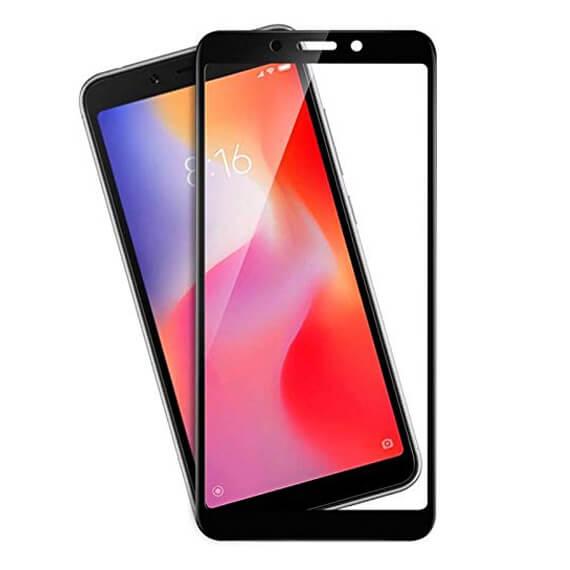 Защитное цветное стекло Mocoson (full glue) на весь экран для Xiaomi Redmi 6 / Redmi 6A