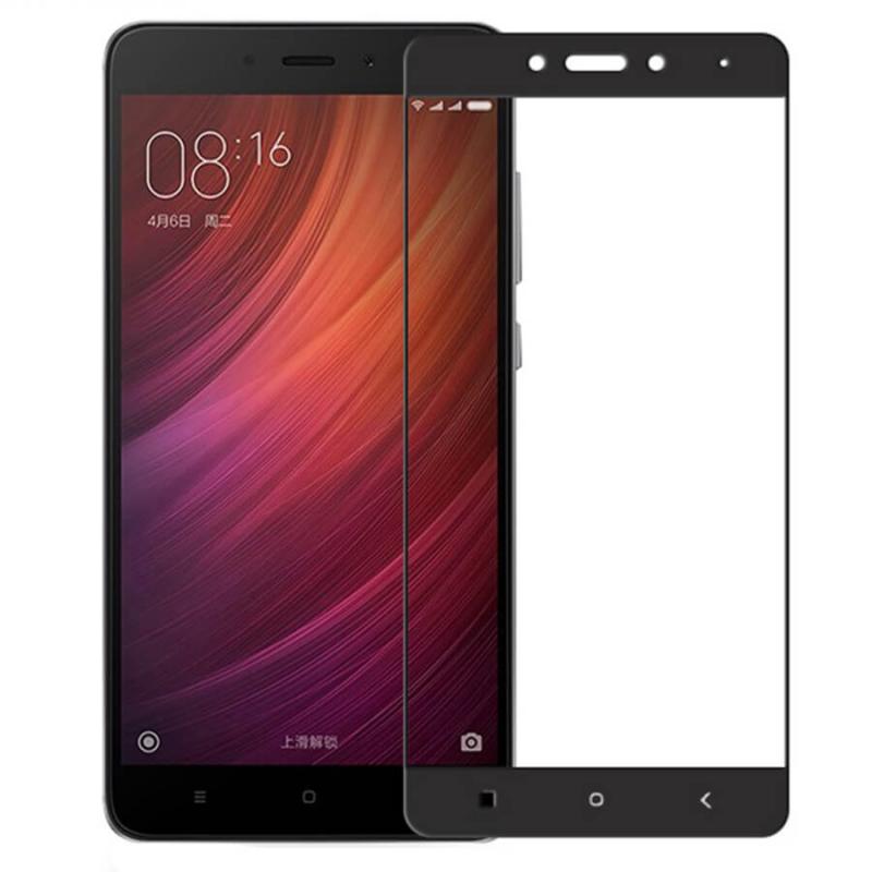 Защитное цветное стекло Mocoson (full glue) на весь экран для Xiaomi Redmi Note 4 (MTK)