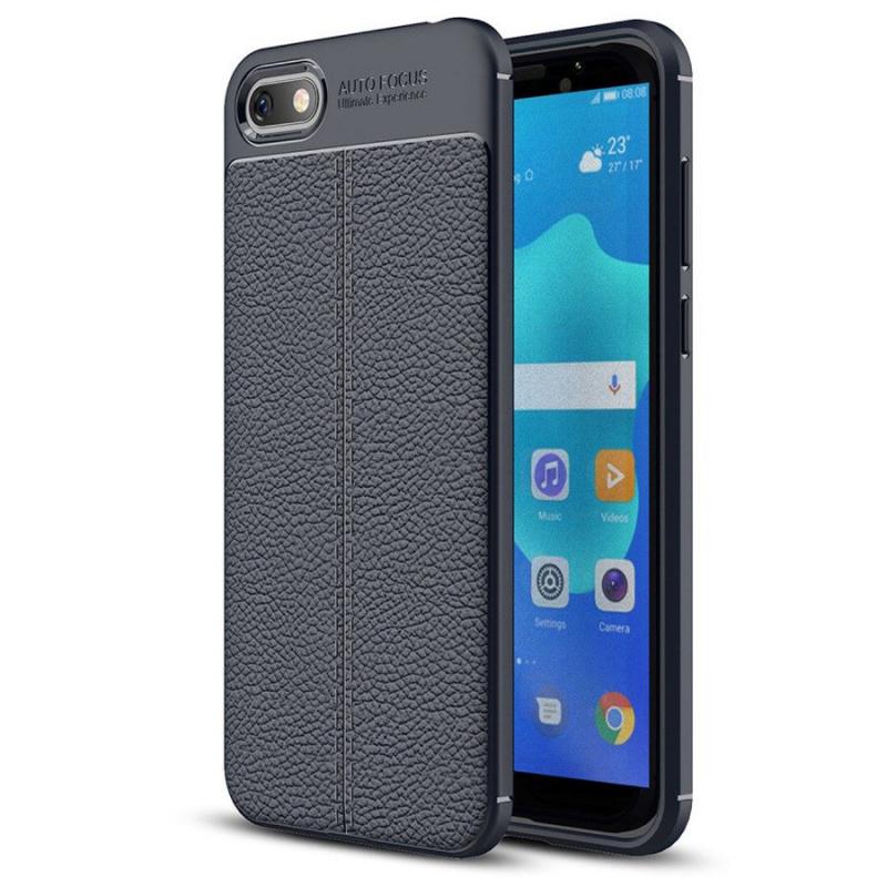 TPU чехол фактурный (с имитацией кожи) для Huawei Y5 (2018) / Y5 Prime (2018)