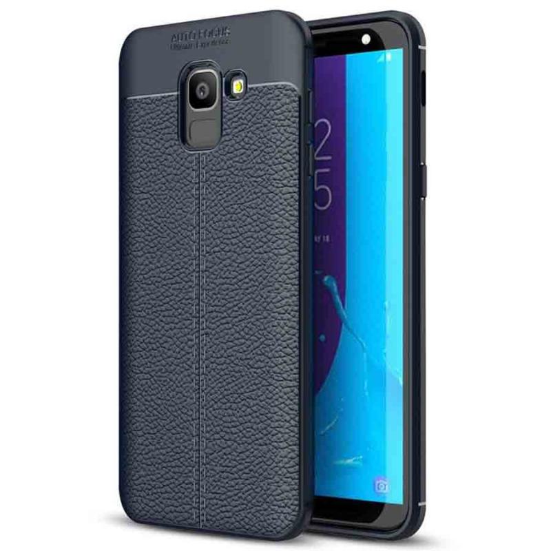 TPU чехол фактурный (с имитацией кожи) для Samsung J600F Galaxy J6 (2018)