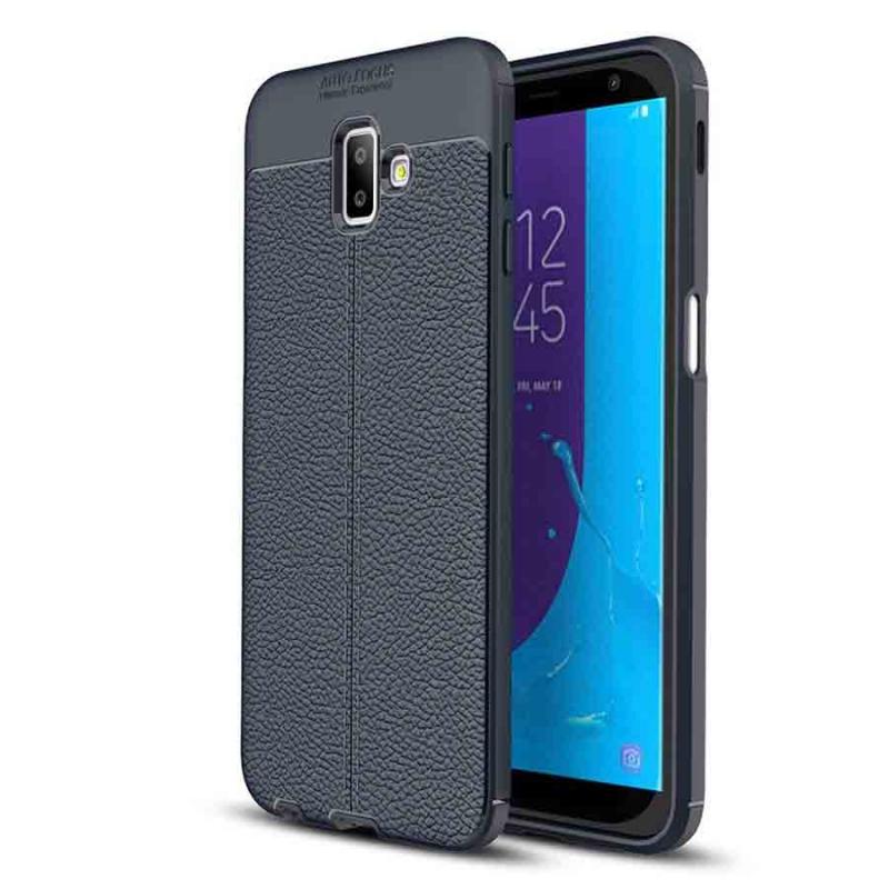TPU чехол фактурный (с имитацией кожи) для Samsung Galaxy J6+ (2018) (J610F)